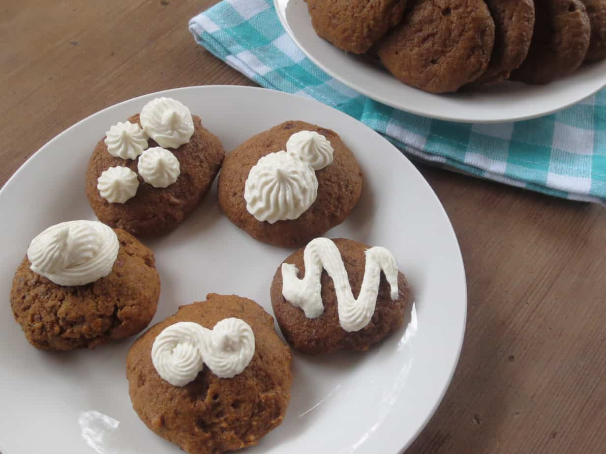 Spiced Molasses Breakfast Cookies with Cream Cheese Icing