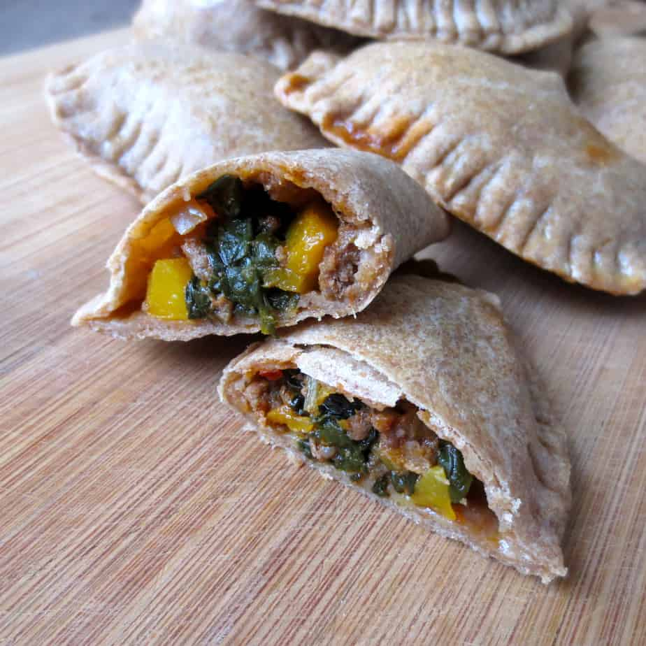 Easy Whole Wheat Beef & Butternut Empanadas with Kale #onthego #frugalnutrition #easylunch #realfoodlunch