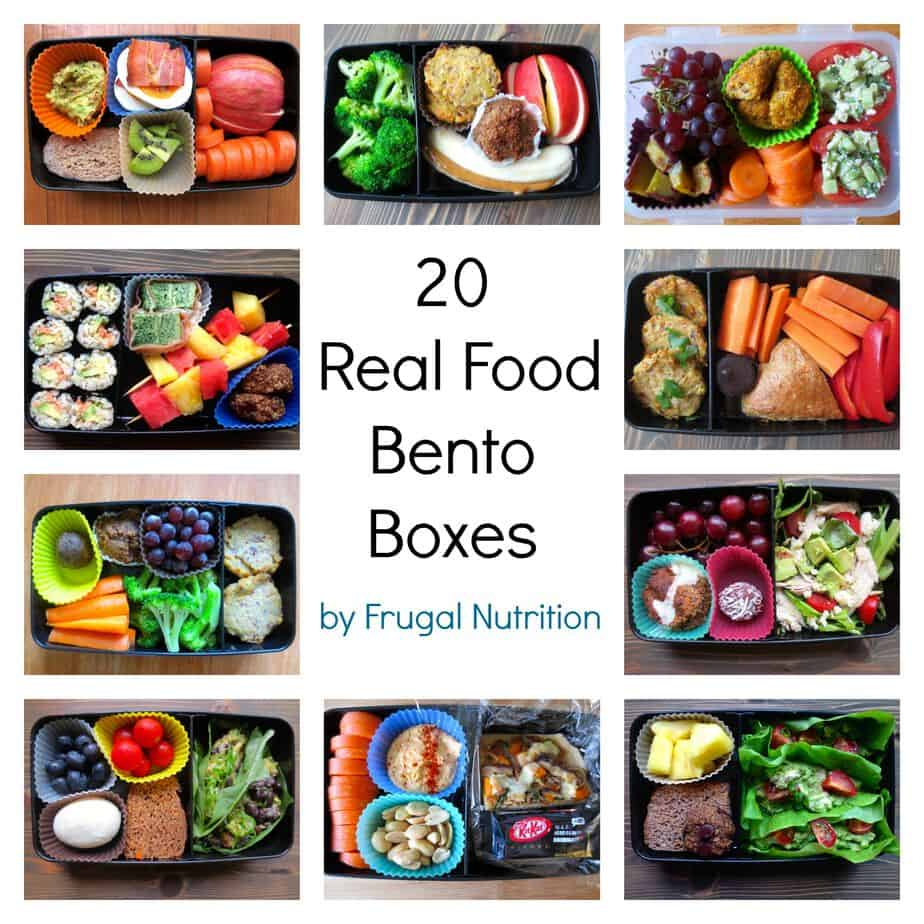 Real food bento box round up 20 lunch box ideas frugal for Lunch food ideas