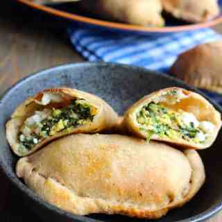 Spinach, Sausage, and Cheese Breakfast Calzones by Frugal Nutrition