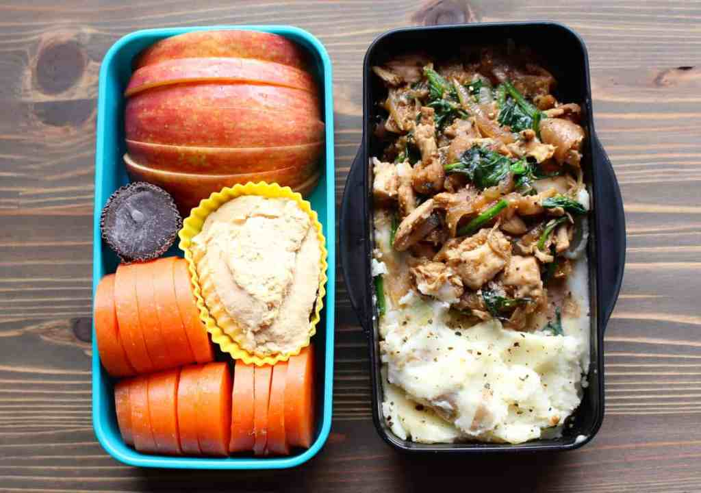 Chicken-Fig-Onion Saute Lunchbox Meal Prep | Frugal Nutrition