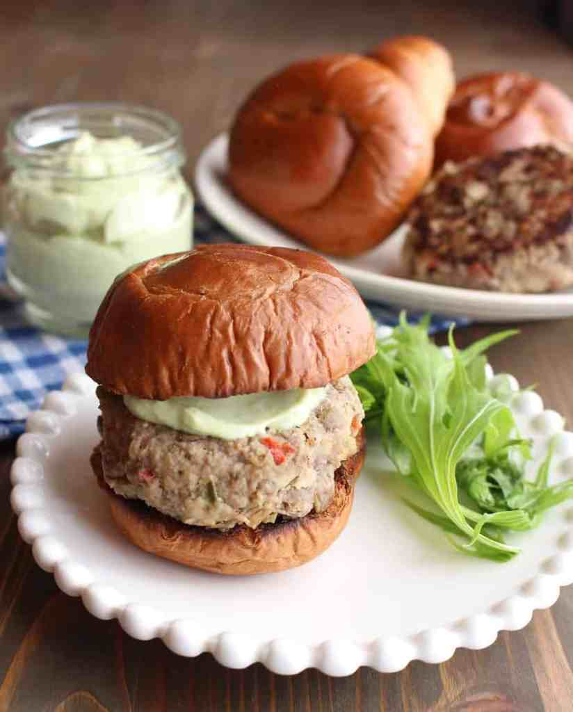 Lentil Turkey Burgers with Veggies and Jalapeño | Frugal Nutrition