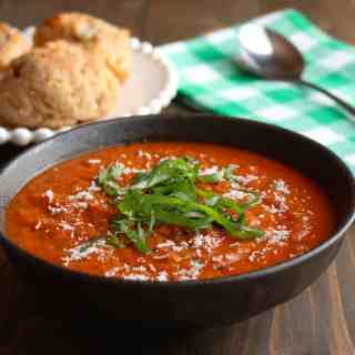 Easy Stovetop Tomato Soup with Basil - Frugal Nutrition