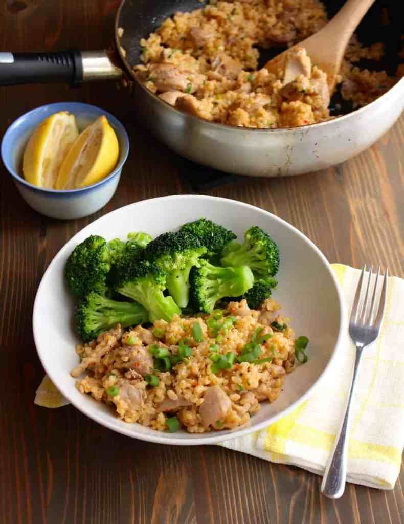 Easy One Pan Coconut Garlic Chicken & Rice | Frugal Nutrition