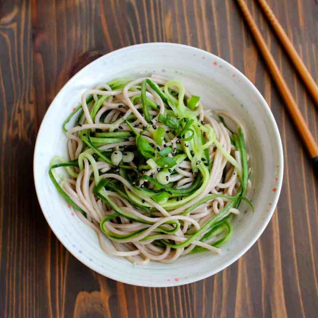 Cucumber Noodles with Rice Vinegar & Soba | Frugal Nutrition