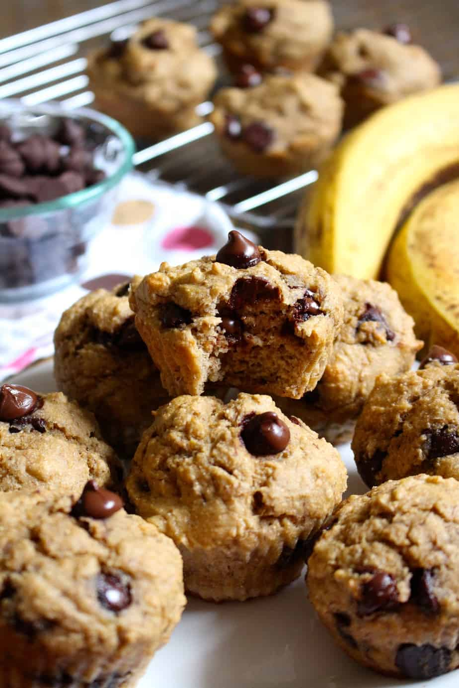 Chocolate Chip Banana Muffins (Whole Wheat) | Frugal Nutrition