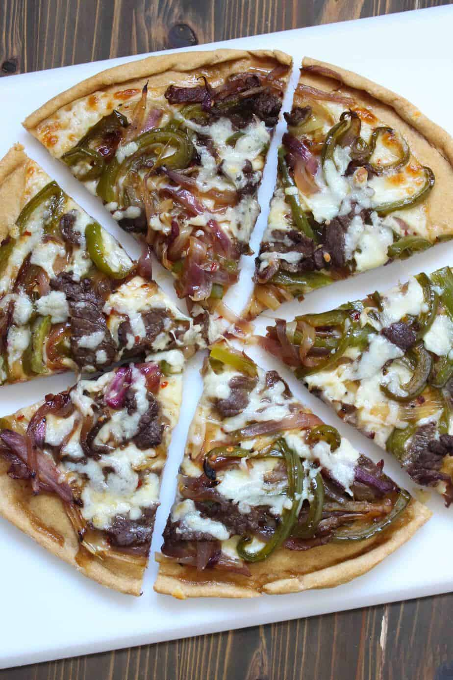 how to make philly cheese steak pizza