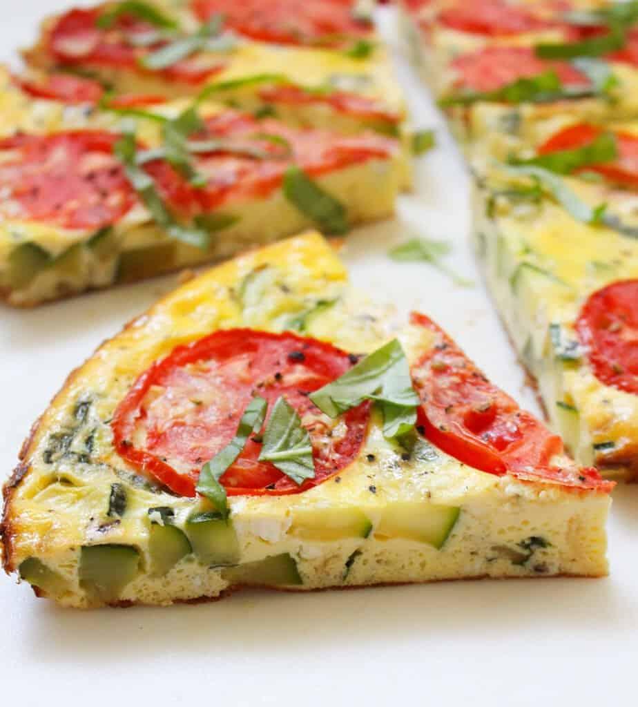 Simple Breakfast Summer Frittata | Frugal Nutrition