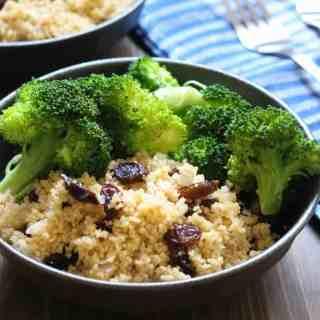 Spiced Couscous & Raisins   Frugal Nutrition #easydinner