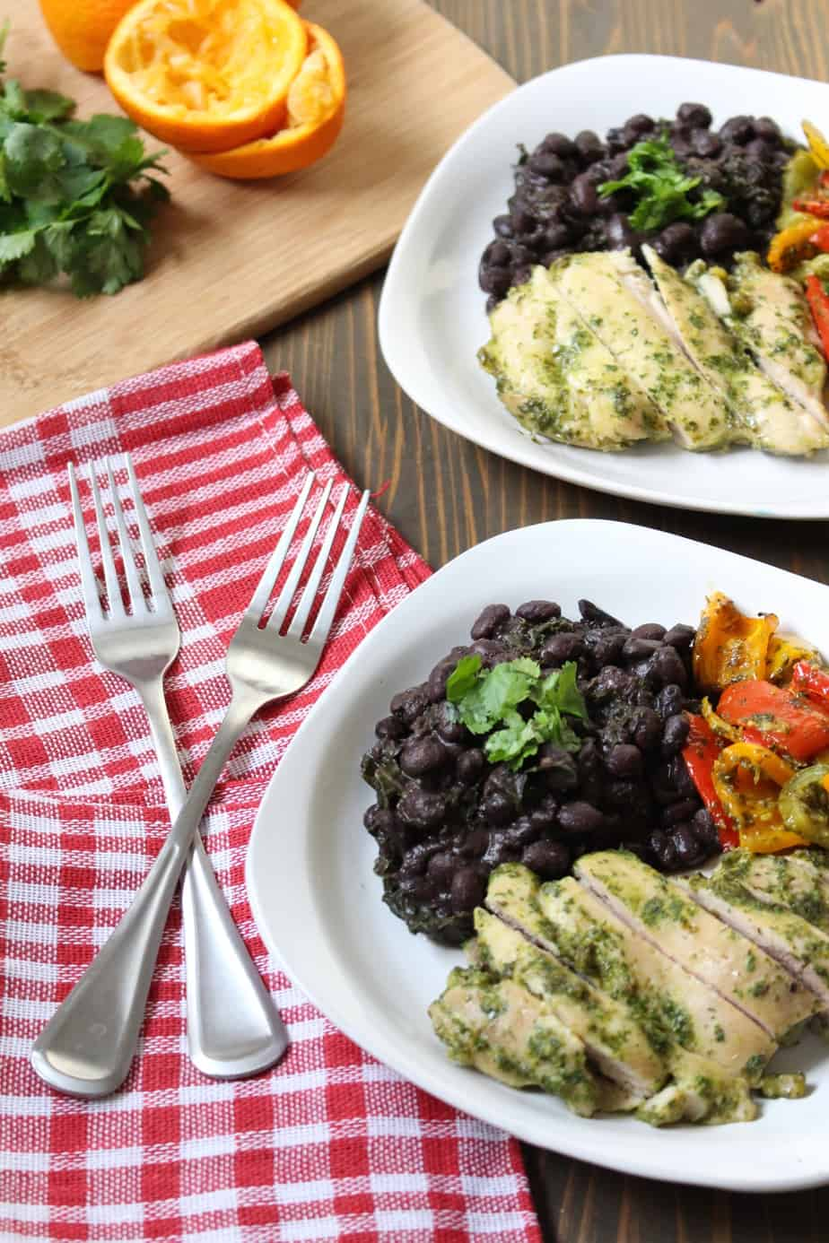 Cuban Black Beans with Chicken and Peppers | Frugal Nutrition