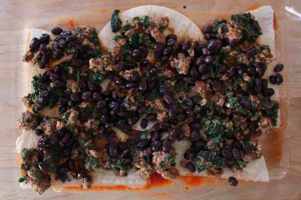 Taco Casserole Meat Beans Spinach Layer | Frugal Nutrition