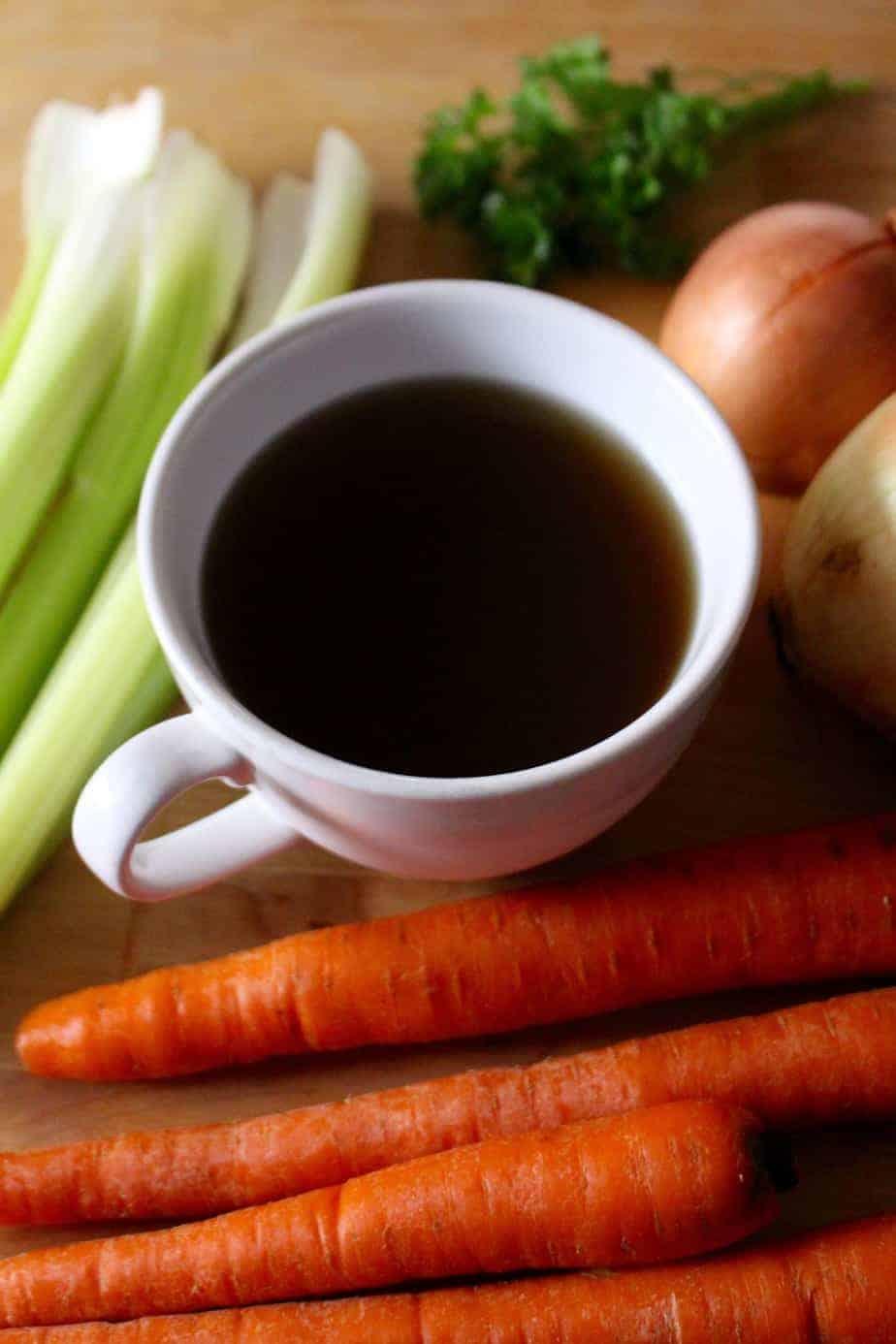 Homemade Nourishing Vegetable Broth | Frugal Nutrition