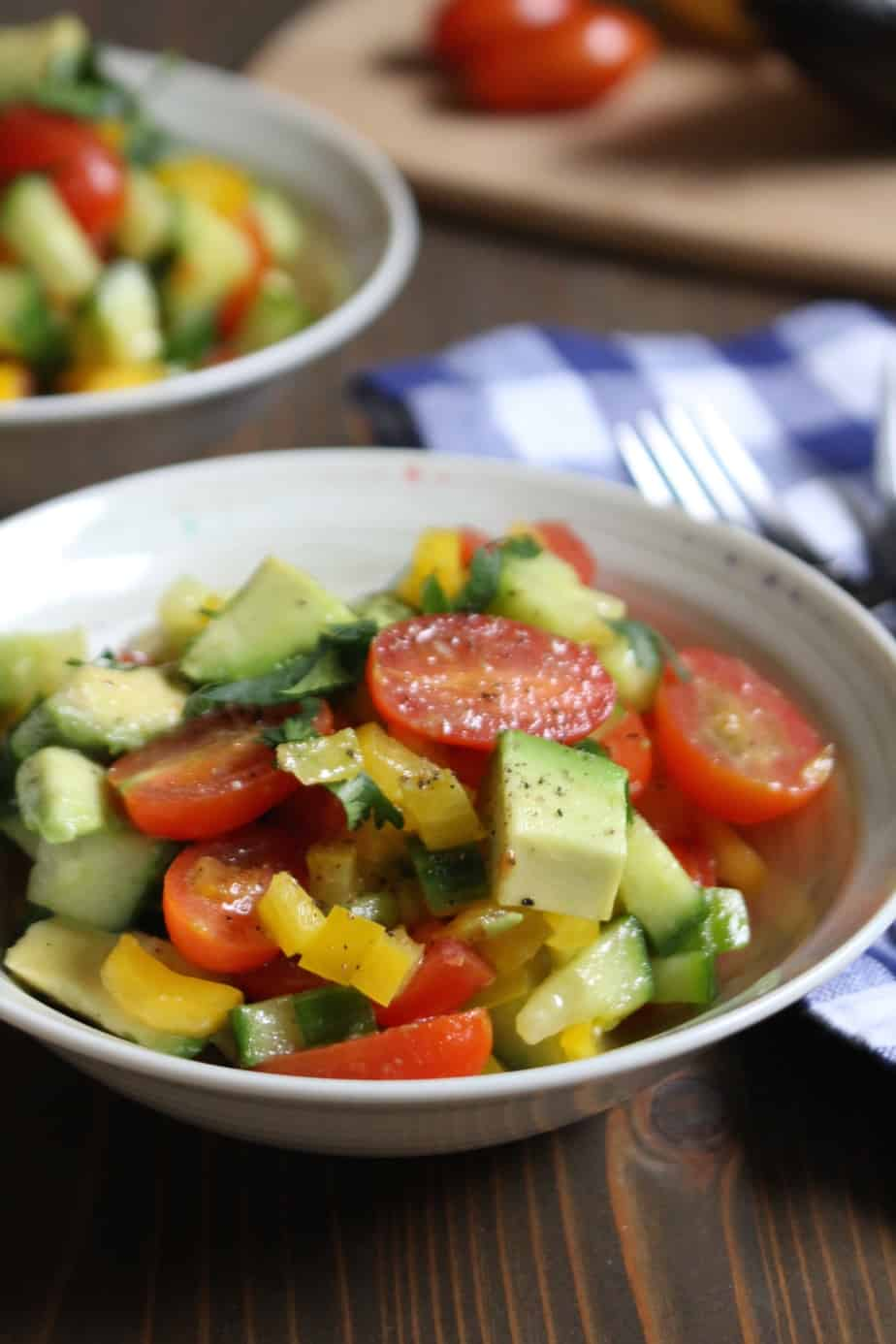 Jayme's Summer Vegetable Salad with Avocado | Frugal Nutrition #whole30