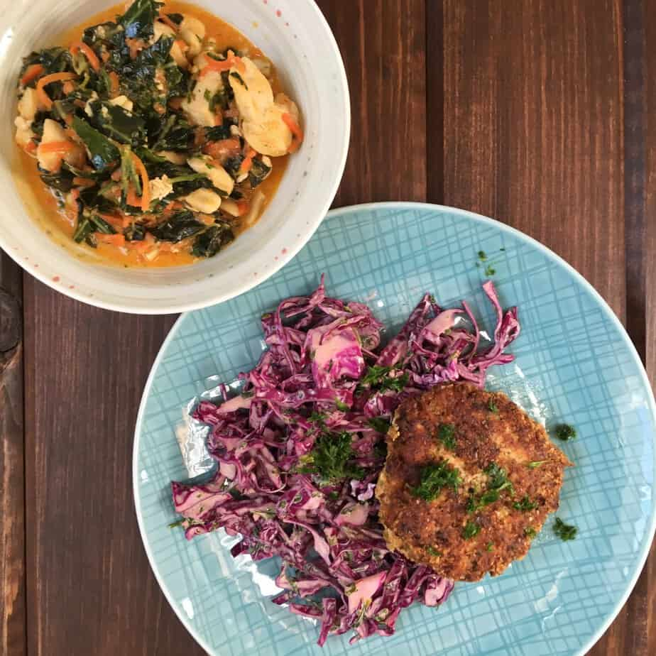 Salmon Cakes and Thai Curry Whole30