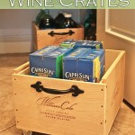 Wine Crates Up Cycle & Recycle with Wheels