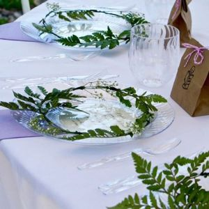 Our storybook babyshower tablesetting come together with chinet plates cupshellip