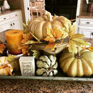 Working on fall decor its 90 degrees here ready forhellip