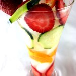Tangerine Cucumber and Strawberry Infused Water