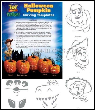 Toy Story of Terror Pumpkin Stencils