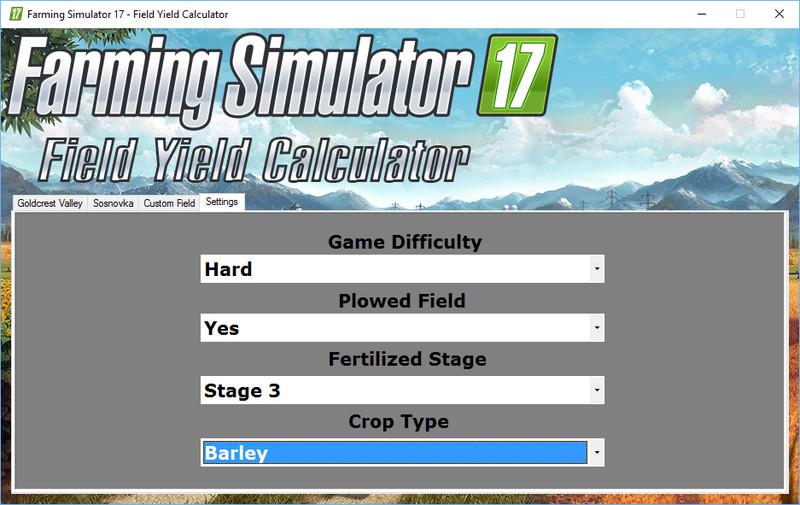 Field Yield Calculator V 10 FS17 - Farming Simulator 17 mod / FS