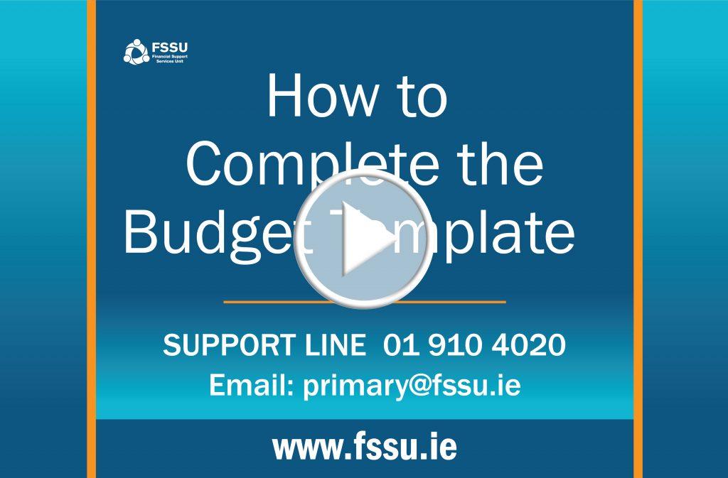 School Budget Template - FSSU
