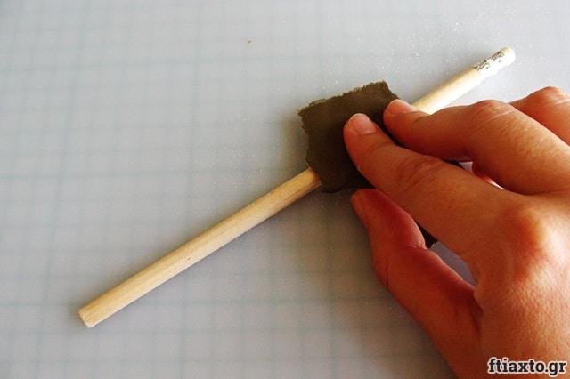 Μολύβια με decoupage