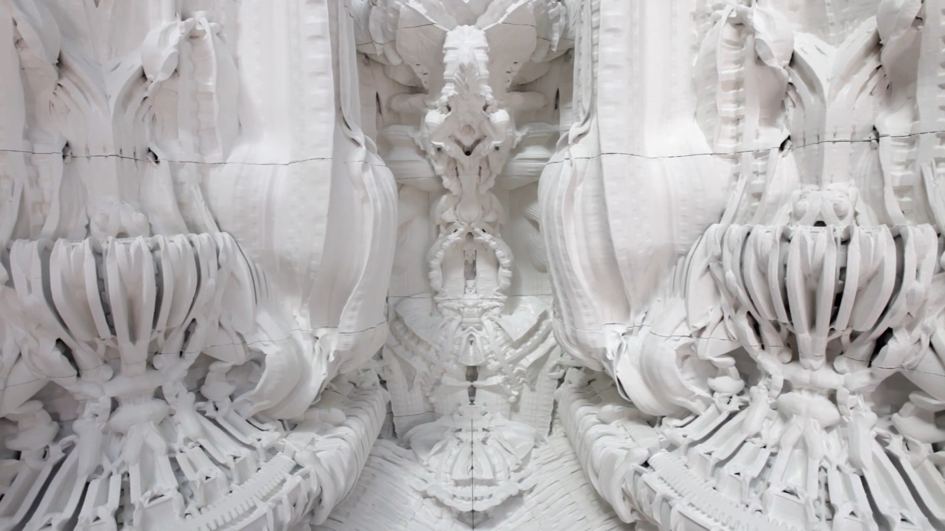 3d Interior Wallpaper Hd Digital Grotesque 3d Printing Architecture Fubiz Media