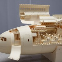 Detailed Airplane Made of Paper