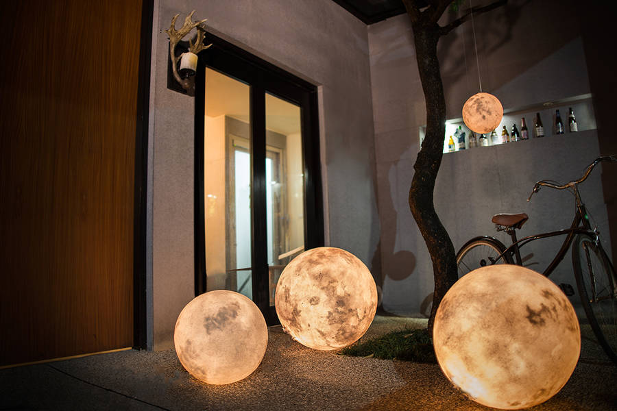 Full Moon Lamp Fubiz Media