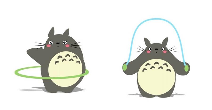 Cute Elephant Wallpaper Hd Funny Animated Gifs Of Totoro Making Fitness Fubiz Media