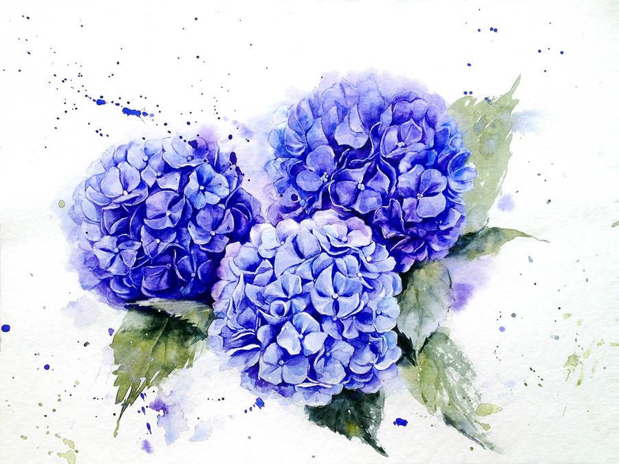 Violet Flower Hd Wallpaper Poetic Amp Realistic Flowers Watercolor Paintings Fubiz Media