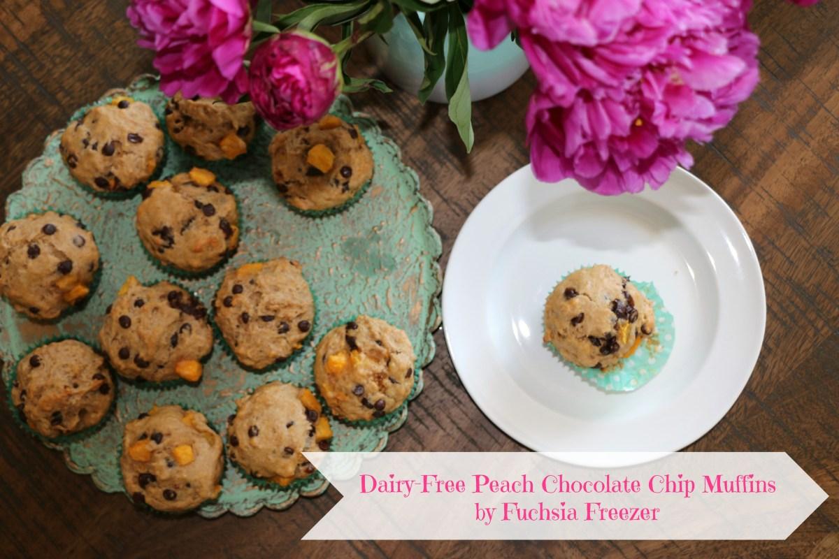 Dairy-Free Peach Chocolate Chip Muffins
