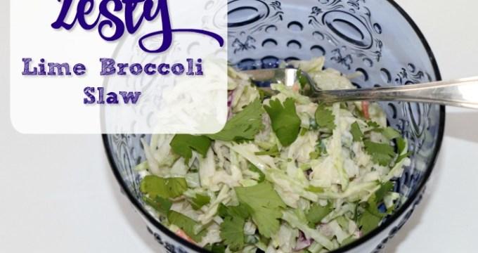 Zesty Lime Broccoli Slaw