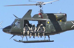 Mexican Troops on Helicopter 300