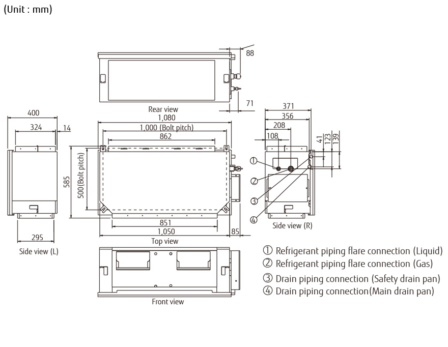 fujitsu air conditioner ledningsdiagram
