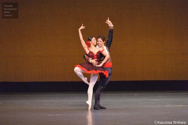 Candice Adea and Andres Estevez perform the grand pas de deux from Don Quixote.