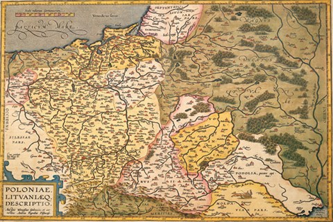 Map of Poland and Eastern Europe, c1500\u0027s Fine Art Print by Abraham