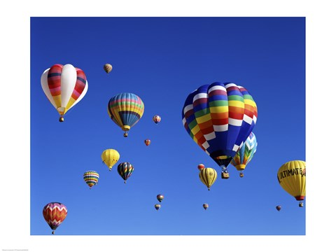 Hot Air Balloons Floating Away Fine Art Print by Unknown at
