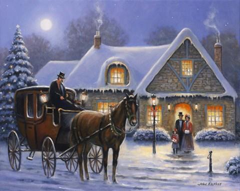 Beautiful Girl Bedroom Wallpaper Christmas Eve Fine Art Print By John Zaccheo At