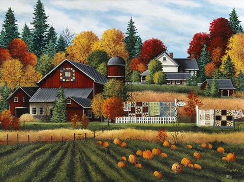 Fall Harvest Wallpaper Autumn On The Farm Fine Art Print By Debbi Wetzel At