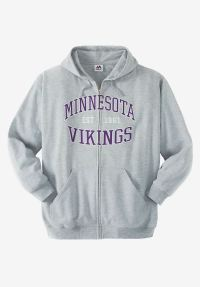 NFL Fleece Full-Zip Hoodie | Plus Size Outerwear | Full ...