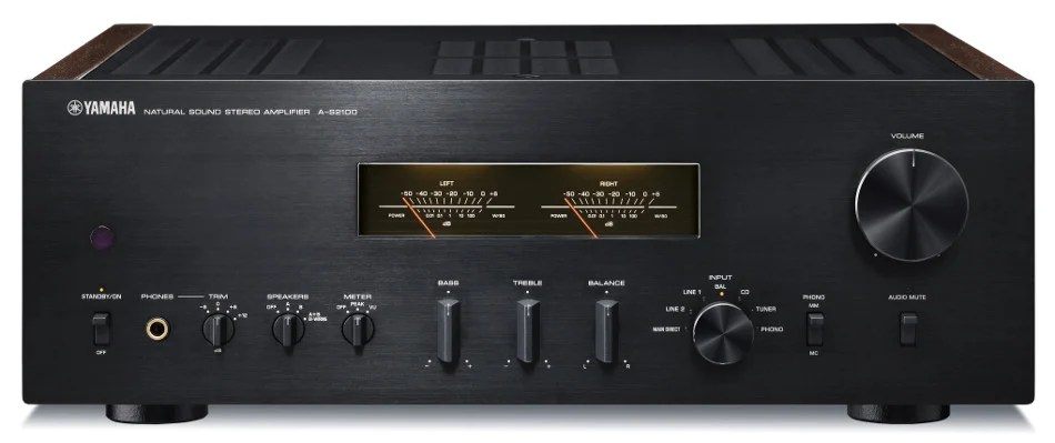 Yamaha A-S2100BL Hi-Fi Integrated Stereo Amplifier, 160 Watts Per