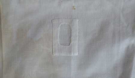 patch on linen