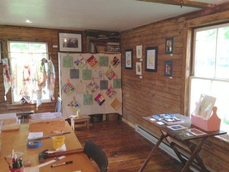 My Studio  as Gallery during the Open House in June