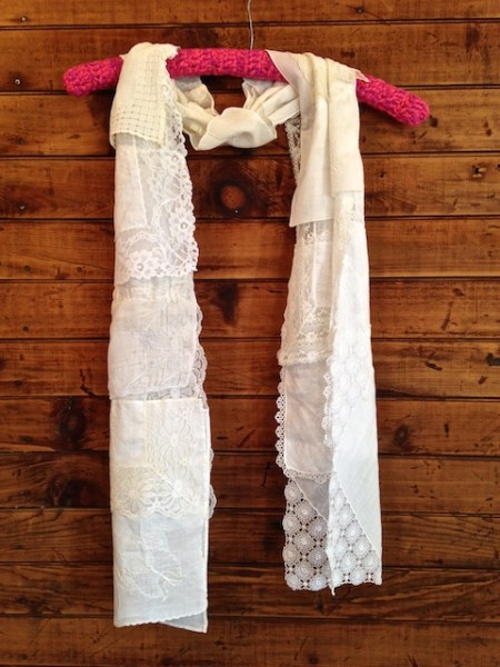 Lacey white scarf #1