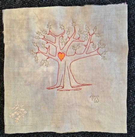 Heart Tree Potholder
