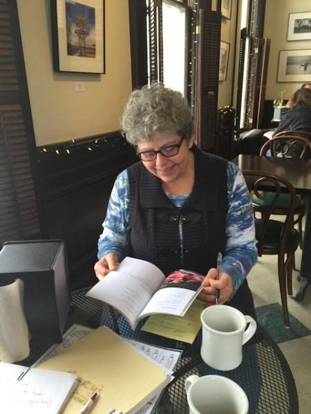 Sara Kelly at the Round House Cafe