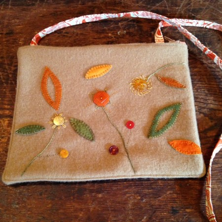 One of Kim's felted handbags