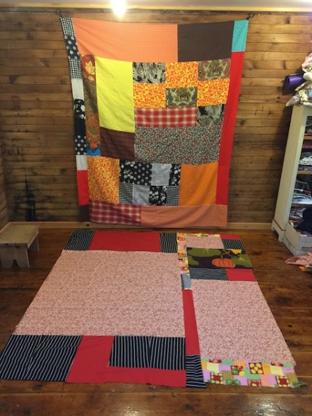 Front and Back of my new quilt