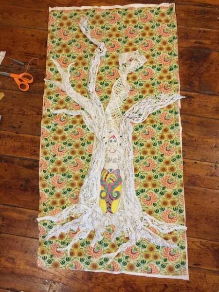 Snake goddess and tree